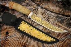 """Нож подарочный  """"Бивень"""" - (гравировка """"Мамонт"""")"""