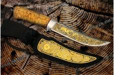 """Нож подарочный  """"Дракула"""" - (гравировка с собакой)"""