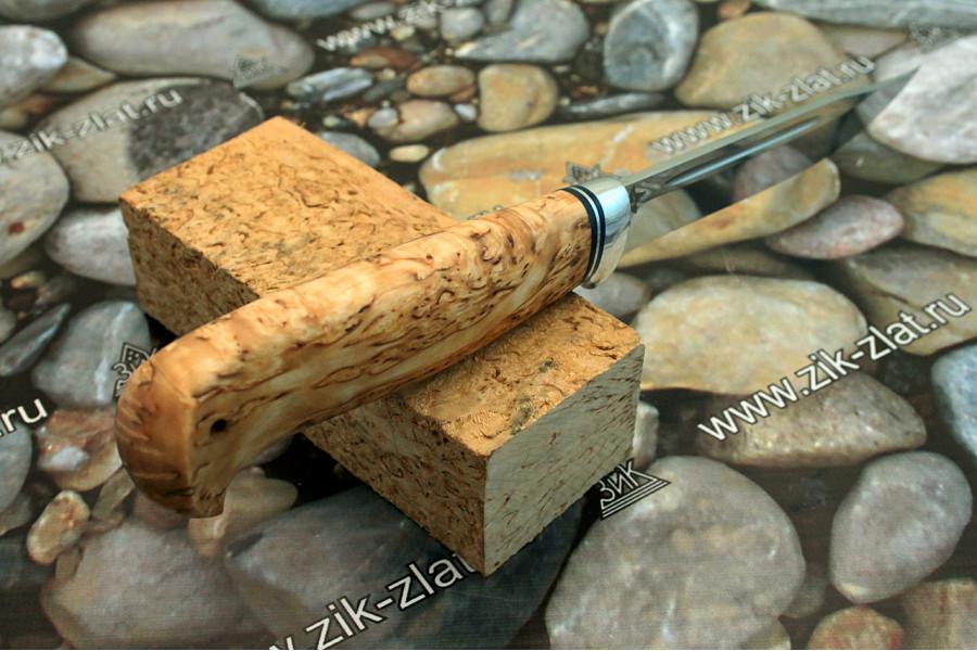 Финка Тайга (рукоять карельская береза, алюминий)