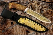 """Нож подарочный """"Кондор"""" рукоять карельская береза"""
