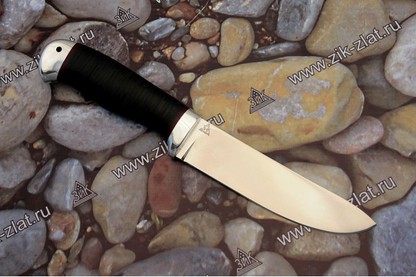 """Нож туристический """"Пикничок"""" (кожа наборная, алюминий)"""
