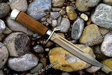 Нож разведчика (дамаск, орех, алюминий)