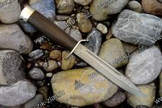 Нож разведчика (дамаск, стаб. бук, аллюминий)