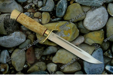 Нож разведчика (карельская береза, латунь)