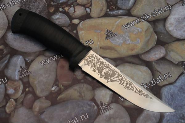 """Нож туристический """"Сайга"""" рукоять кожа, текстолит"""