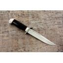 Нож туристический Воин рукоять кожа наборная, алюминий
