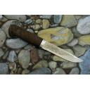 """Нож туристический """"Засапожный"""" рукоять орех, алюминий"""